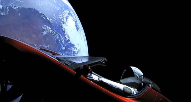 Roadster in der Sonnenumlaufbahn